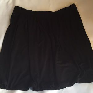 Eileen Fisher Black Skirt Pleated w/pockets- XL